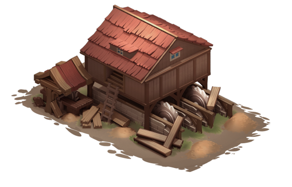 Sawmill isometric building