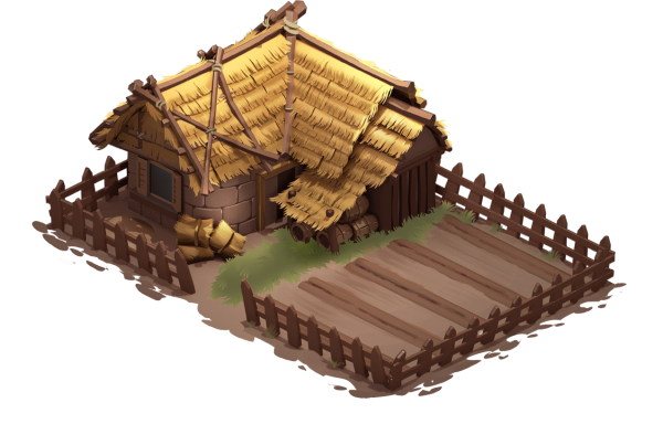 farm isometric building