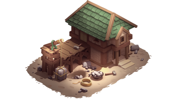 Stonemason-building-asset-isometric game