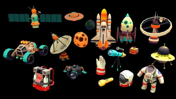Game Assets for Asteroids Crusher